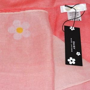 Marc Jacobs Scarf Daisy Pink Ombre New With Tags